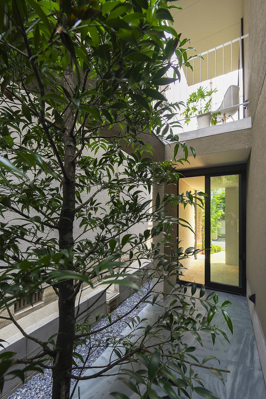 ガーデン、植栽、住宅
