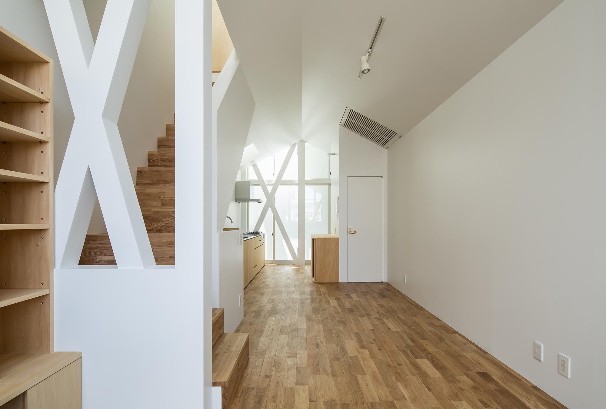 建築家が設計した木造3階建ての住宅