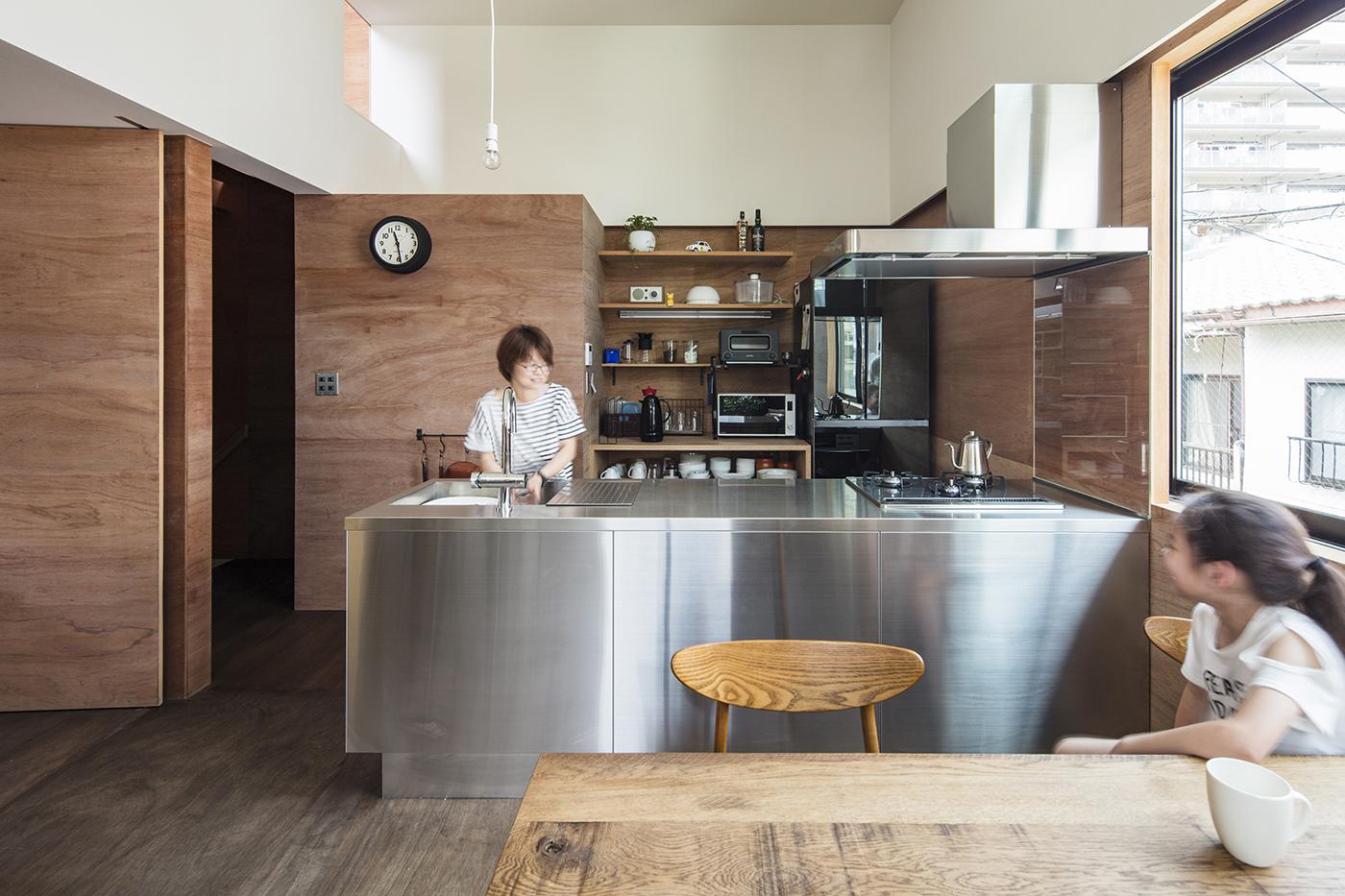 鳥居町の家キッチン