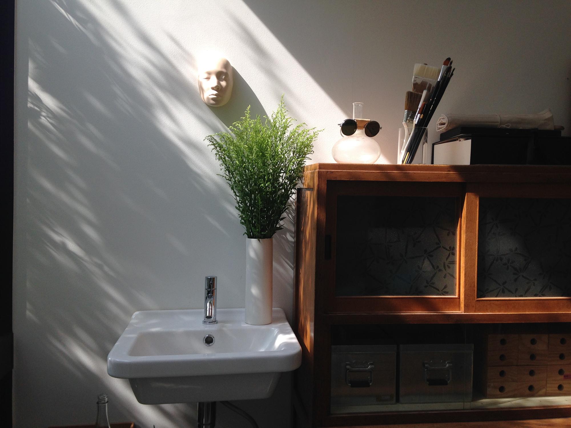 雑誌の取材&撮影 House-U[アトリエと中庭のあるシンプルな住宅]