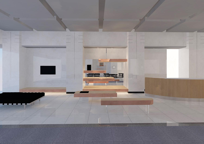 とある株式会社 本社エントランス 飾り棚 計画案 プロジェクトに掲載しました