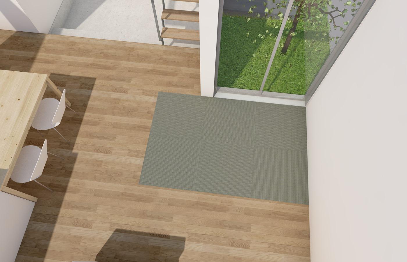 天井高、天井懐を限界まで切り詰める 13/20   床仕上げを合板とする 14/20   畳コーナーは置き畳で 15/20 [コスパの良い間取り]